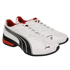 Puma Mens Tazon 5 White Black Synthetic Athletic Lace Up Running Shoes