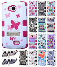 Virgin Mobile LG Tribute LS660 Rubber IMPACT TUFF HYBRID KICK STAND Case Cover