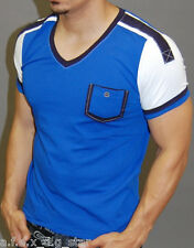 A.F.E.X D.G K&D STAR CASUAL DEEP V NECK MUSCLE SLIM FIT BODY FITTED SHIRT A10