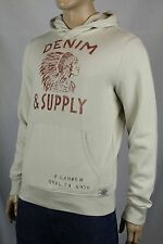 Denim & Supply Ralph Lauren Cream Indian Head Hoodie Sweatshirt NWT
