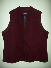 Basic Editions Brand Woman's Quilted Vest Outerwear. Plus Sizes 2x & 3X  New
