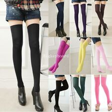 Girl Long Over The Knee Cotton Socks Thigh High Soft Cotton Stockings 10 Colours