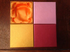 NEW LOT OF 12 Silk FILLED BOXES JEWELRY GIFT BOXES BRACELET BANGLE BOXES 9x9x3cm