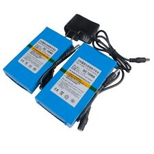 12V Portable 9800mAh /6800mAh Li-ion Super Rechargeable Battery Pack +AC charger