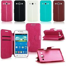 Flip Folio Leather Wallet Case Cover For Samsung Galaxy Core Plus SM-G350/G3502