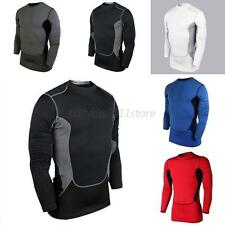 Men's Compression Base Layer Sports Wear Long Sleeve T-Shirts Athletic Tops Gear