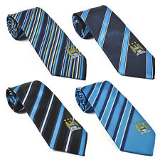 Manchester City Football Club Official Soccer Gift Club Crest Tie