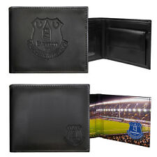 Everton Football Club Official Soccer Gift Embossed Crest Wallet Black