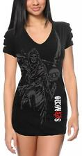 Ladies Drama TV Show Sons of Anarchy Reaper Crew Samcro Shoulder Cut Top