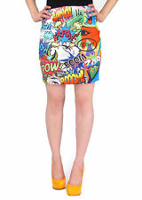 Cartoon Comicbuch Pop Art Sublimation Druck Minirock Enganliegend Stretch Stift