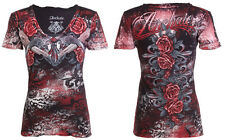 Archaic AFFLICTION Women T-Shirt HOT GIRL Guns Roses Biker UFC Sinful S-XL $40 a