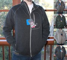 *NWT* Men's Avalanche Knit Sweater-Jacket-Full Zip-2 Thermal Mid Layers-4 Colors