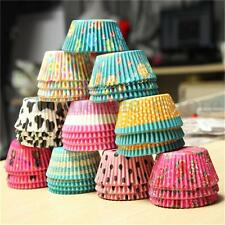 100pcs Colorful Paper Cupcake Liner Case Wrapper Muffin Dessert Baking Cup Party