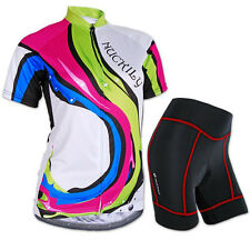 Women Cycling Short Sleeve Clothing Set Bicycle Wear Suit Jersey & Short Pants