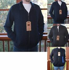 *NWT* Men's BOSTON TRADERS Luxury Cable Knit Full Zip Very Heavy-Sweater Jacket