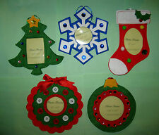 Photo Holder Christmas ornament U choose picture stocking tree snowflake wreath