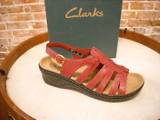 Clarks Red Leather Strappy Lexi Marigold SANDAL