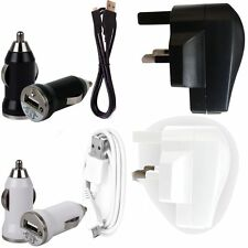 USB MAINS ADAPTER CHARGER+CAR BULLET+DATA SYNC LEAD FOR XIAOMI MI 3 4