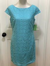 348.00 NWT LILLY PULITZER JEANETTE DRESS SHORELY BLUE DAISY LACE 8,12 WEDDING