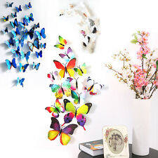 Hot DIY 3D Butterfly Wall Sticker Home Decor Room Decorations Art 12PCS 9 Colors