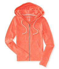aeropostale womens lightweight heathered full-zip hoodie