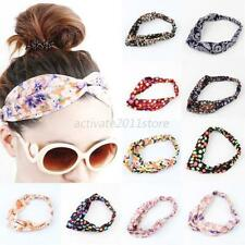 Hot Women Colorful Elastic Turban Head Wrap Headband Twisted Knotted Hair Band