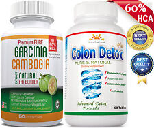 NO CALCIUM GARCINIA  EXTRACT +  COLON Cleanse/DETOX for WEIGHT LOSS/Digestion