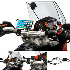 Motorcycle M6 M8 M10 Top Bolt Mount Holder + Din Hella Charger for iPhone 6 4.7