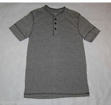 MENS Henley Shirt SPECKLED GRAY S 34-36 M 38-40 L 42-44 XL 46-48 S/S Open Trails