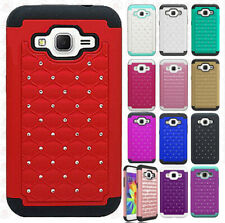 For Samsung Galaxy Prevail LTE IMPACT Dazzling Hard Diamond Case Phone Cover