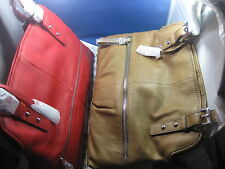 NWT $298 B. Makowsky SHOPPER Large Leather Designer Bag BM32195 RED OR LATTE