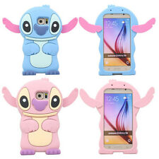 3D Cute Cartoon Stitch Soft Silicone Rubber Gel Skin Case Cover For Cell Phones