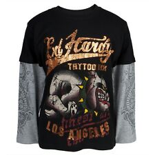 Ed Hardy - Running Bulldog Youth Boys 2fer Long Sleeve Shirt