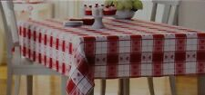 Valentine's Day Red White Heart Tablecloth 70 in Round 52x70 60x84 60x102 Oblong