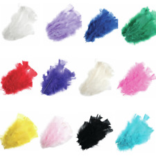 15 x Bright Multi Coloured Bird Feathers Turkey Decoration Costume Craft