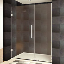 LessCare 42-60 x 72-inch Frameless Clear Glass Chrome Finish Shower Doors