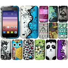 For Huawei Tribute 4G LTE Y536A1 AT&T Leopard Snap On HARD Case Cover Accessory