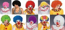 Adult Afro Fro Colorful Circus Clown Wig Hair Halloween Costume Accessory NEW