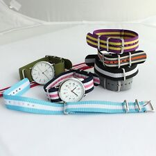 Brand New Fashion 20MM Nylon Band Fabric Strap Men Ladies Dress Wristwatch U46