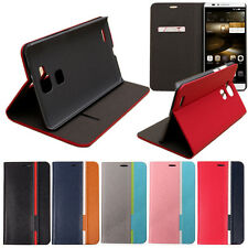 Ultra Slim Hybrid Flip PU Leather Card Cover Case Stand For Huawei Ascend Mate 7