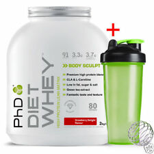 PhD Nutrition Diet Whey Protein 2kg - All Flavours + Neon Shaker V2