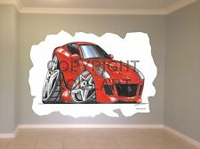 Huge Koolart Cartoon Ferrari 599 Gtr Wall Sticker Poster Mural 1916