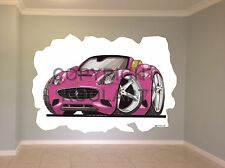 Huge Koolart Cartoon Ferrari California Wall Sticker Poster Mural 2865