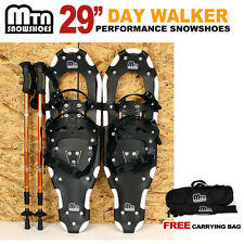 "New MTN 29"" WP White All Terrian Snowshoes + Nordic Pole + Free Carrying Bag"