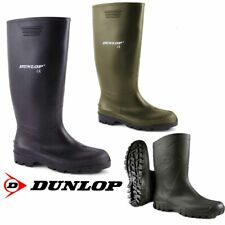 Mens Dunlop Hunting Waterproof Walking Wellies Rain Festival Wellington Boots UK