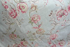 Floral  Linen Blue Curtain/Craft Fabric