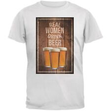 St. Patricks Day - Real Women Drink Beer White Adult T-Shirt