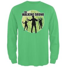 St. Patricks Day - The Walking Drunk Irish Adult Long Sleeve T-Shirt