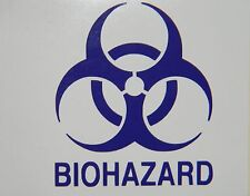 Biohazard Logo with BIOHAZARD Vinyl Decal Sticker Choose your Color and Size