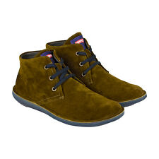 Camper Beetle Mens Brown Blue Suede High Top Sneakers Shoes